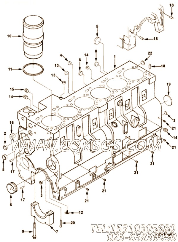 【发动机6CTA8.3-C145的除气管组】 康明斯六角头锥形螺塞,参数及图片