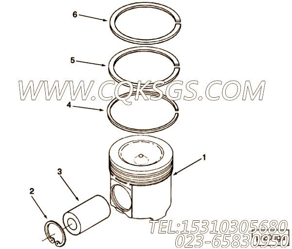 3899413压缩环,用于康明斯M11-C350H主机发动机性能件组,【宣工推土机】配件