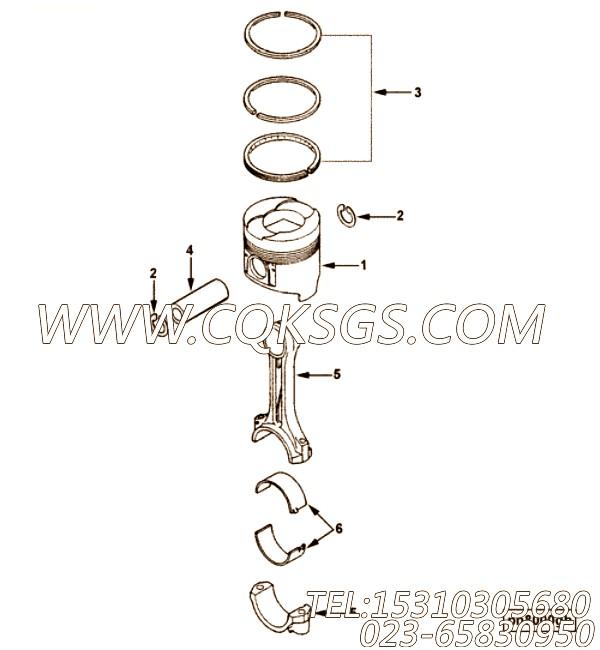 【活塞油环】康明斯CUMMINS柴油机的C6205382230 活塞油环