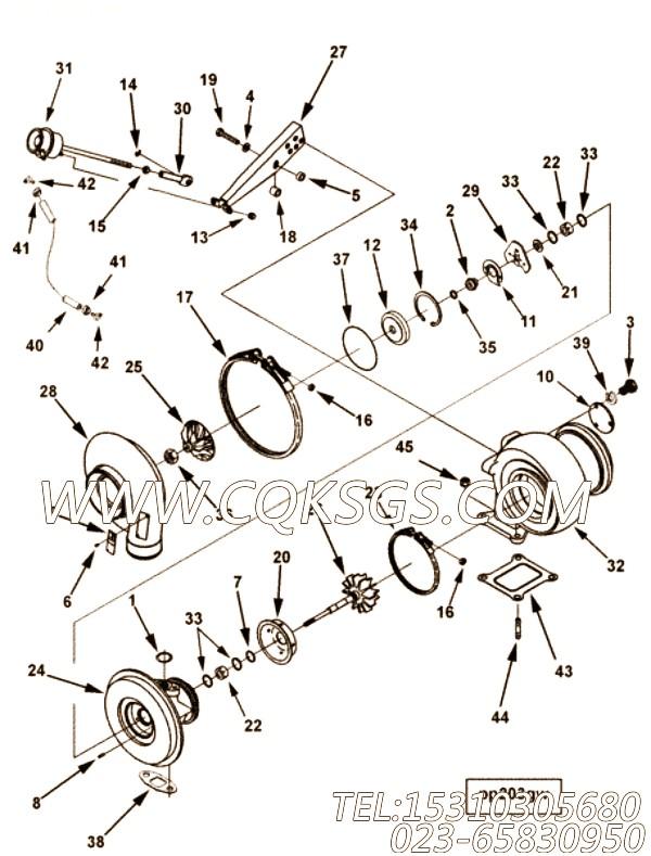 【涡轮机壳体】康明斯CUMMINS柴油机的3592774 涡轮机壳体