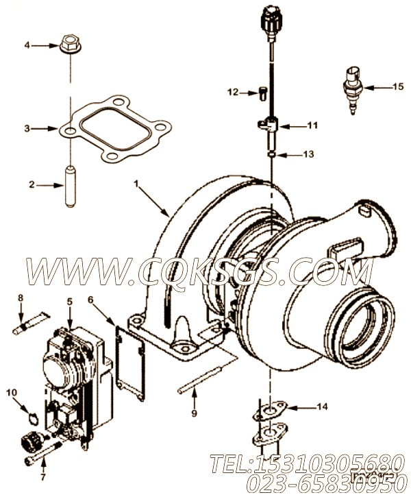 【涡轮增压器】康明斯CUMMINS柴油机的4046227 涡轮增压器
