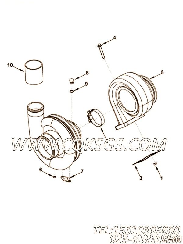 【涡轮增压器】康明斯CUMMINS柴油机的3599007 涡轮增压器