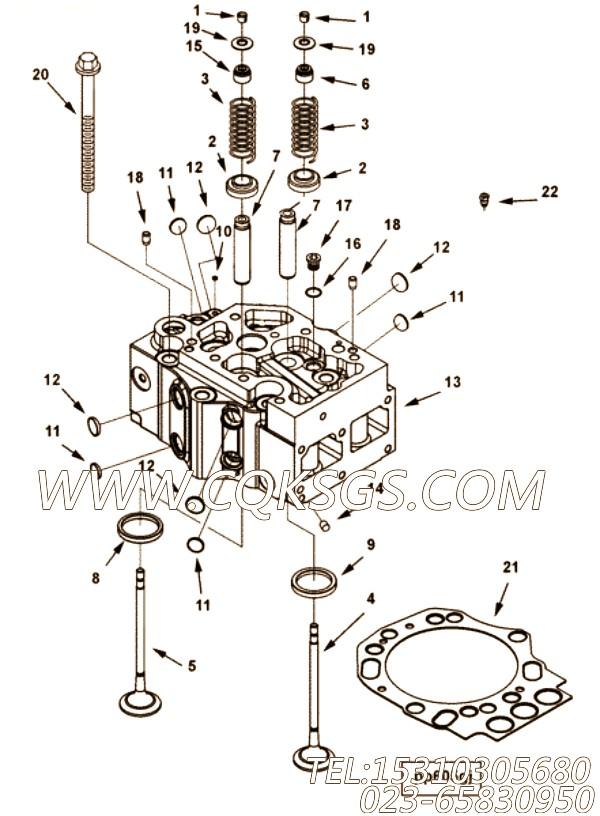 【气缸盖】康明斯CUMMINS柴油机的3641561 气缸盖