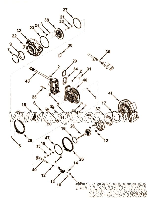 【套件和组件】康明斯CUMMINS柴油机的3598913 套件和组件