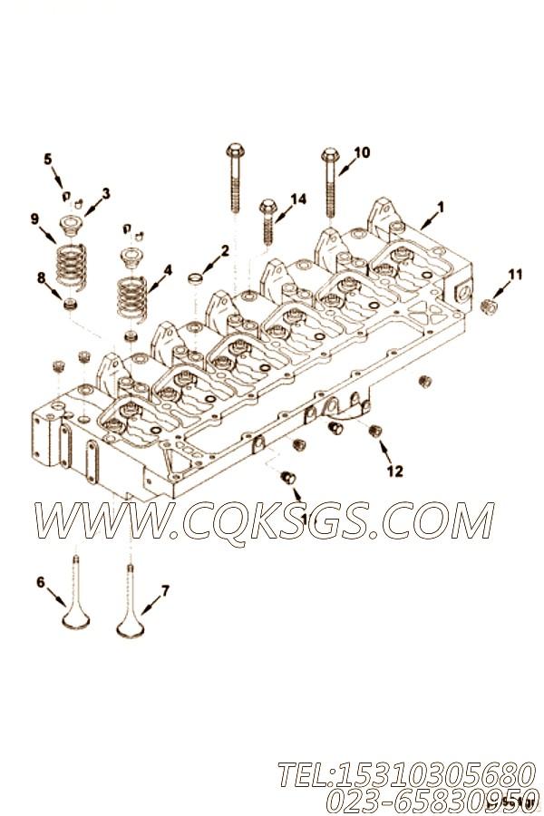 【发动机EQB210-20的气缸盖组】 康明斯气缸盖总成,参数及图片