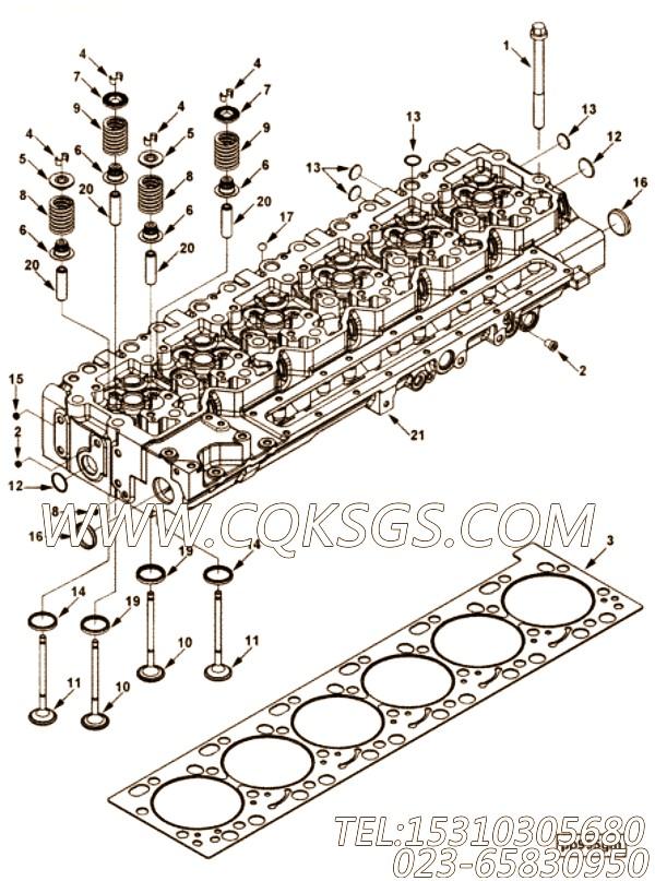 【气缸盖】康明斯CUMMINS柴油机的4987974 气缸盖
