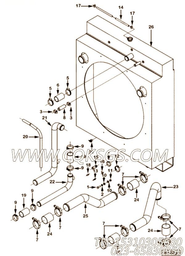 【软管】康明斯CUMMINS柴油机的179124 软管