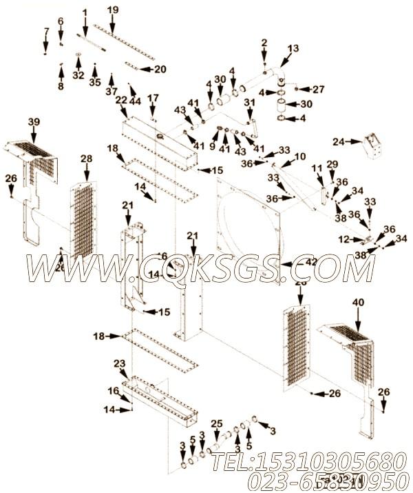 3000278水箱,用于康明斯NT855-L290柴油机发动机散件组,【车用】配件