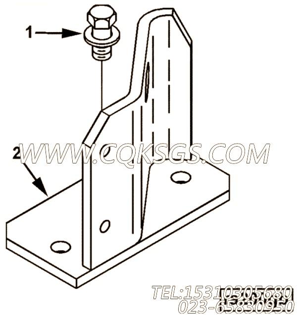 【散热器领带棒支架】康明斯CUMMINS柴油机的4004416 散热器领带棒支架