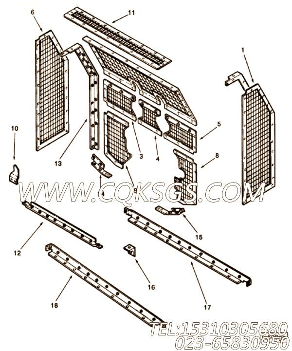 108707六角螺栓,用于康明斯NTA855-P425发动机发动机导线组,【泥浆泵】配件