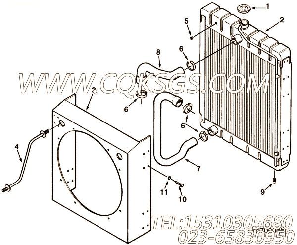 【模压管】康明斯CUMMINS柴油机的C0503128200 模压管