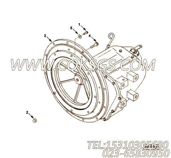554802平垫圈,用于康明斯KTA19-M600发动机排气歧管和增压器安装组,【船舶机械】配件