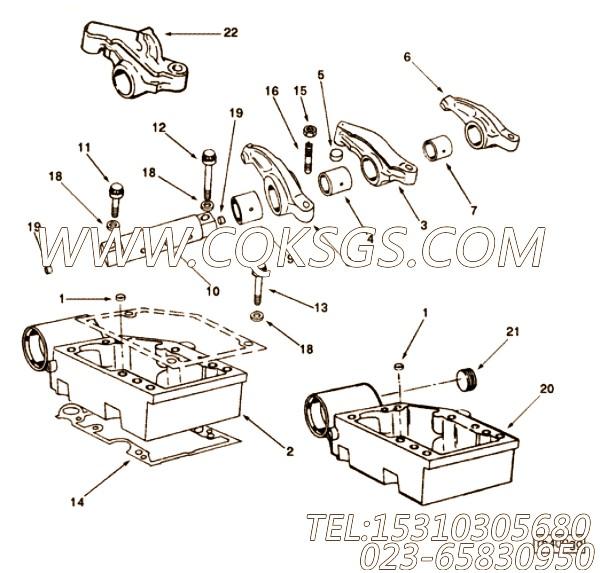 3200499摇臂室,用于康明斯KTA19-C525柴油发动机摇臂室组,【渣罐车】配件