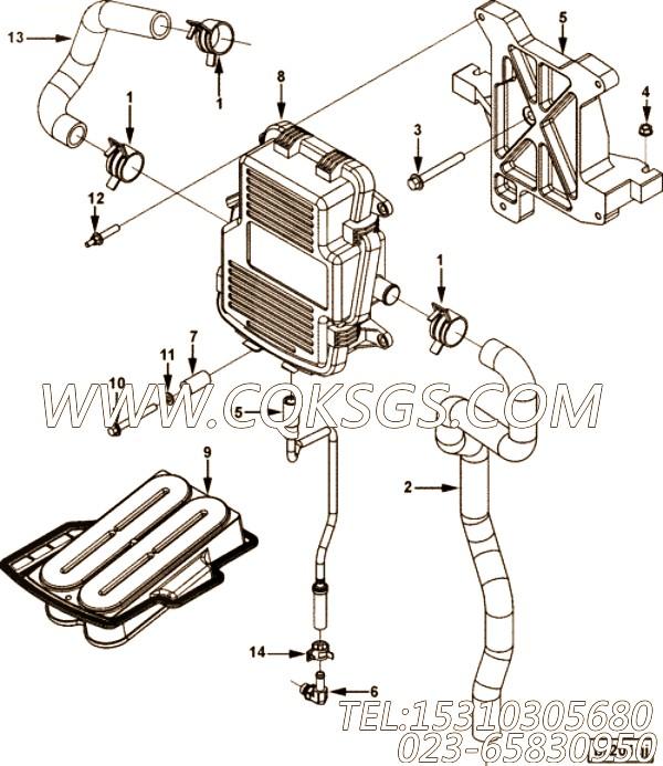 【发动机QSZ13-G3的发动机控制模块组】 康明斯弹簧垫圈,参数及图片