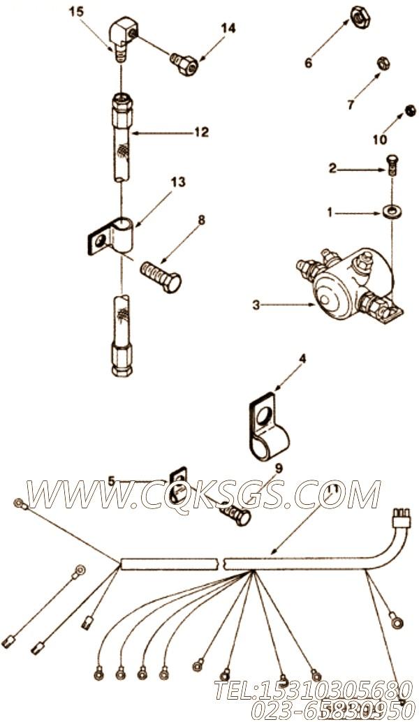 3335005六角螺栓,用于康明斯NT855-C280发动机机油尺组,【通化60T】配件