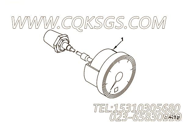 【压力表】康明斯CUMMINS柴油机的4966915 压力表