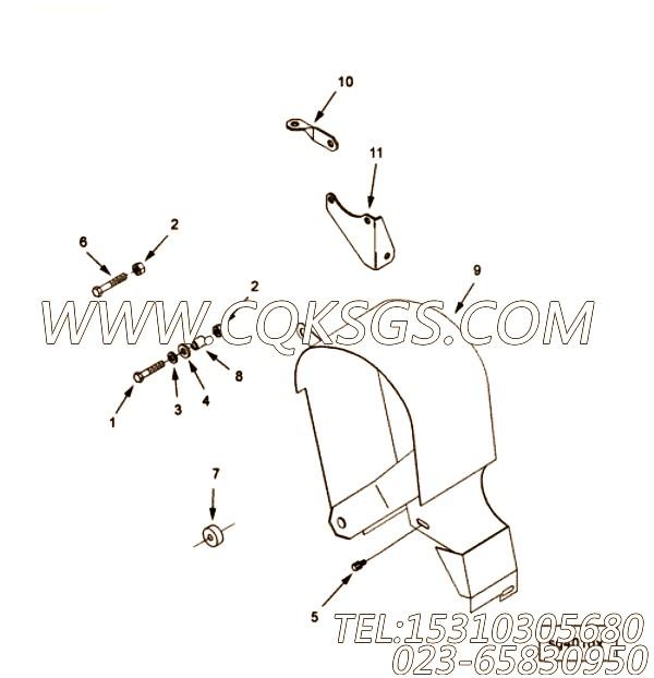 3349409减振垫,用于康明斯KTA19-M640动力减振器防护罩组,【抽沙船用】配件