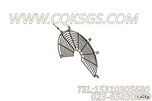【风扇外罩】康明斯CUMMINS柴油机的3878699 风扇外罩