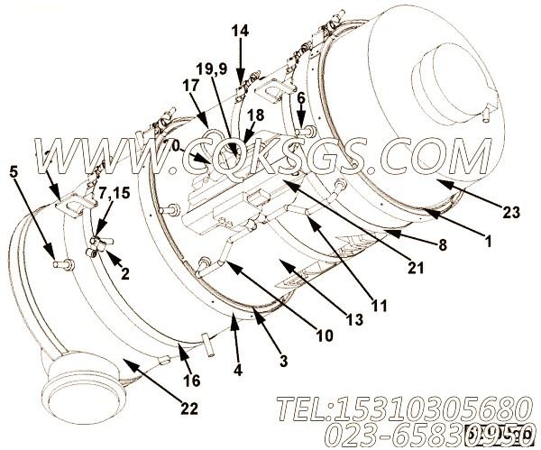 【至五型带箍】康明斯CUMMINS柴油机的2871834 至五型带箍