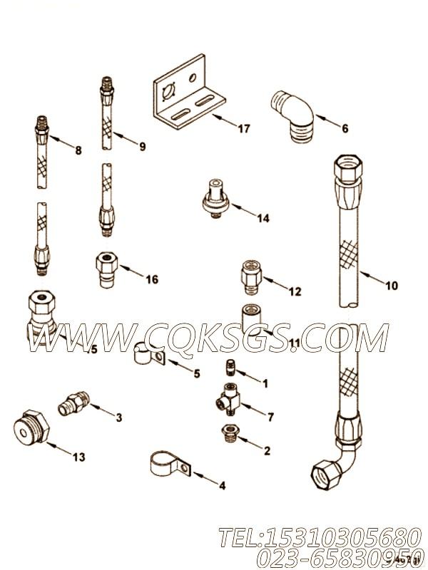 【套件适配器】康明斯CUMMINS柴油机的4019519 套件适配器