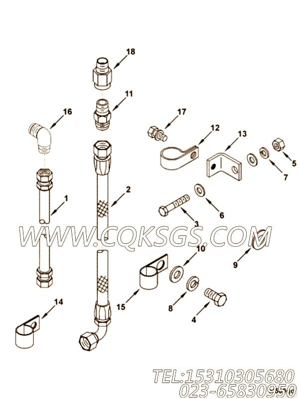 【柔性软管】康明斯CUMMINS柴油机的AS10076 SL 柔性软管