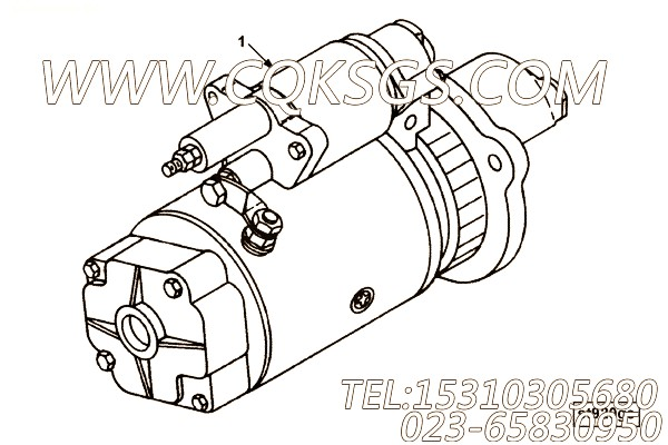 【柴油机6CTA8.3-C215的起动机组】 康明斯起动机,参数及图片