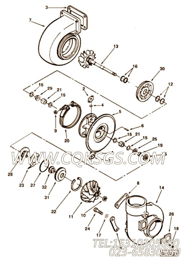 3014435O型密封圈,用于康明斯KTA38-M1主机散热器组,【船用】配件
