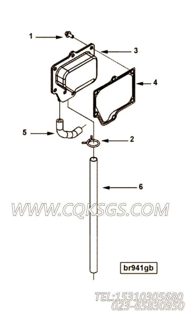 【软管】康明斯CUMMINS柴油机的3944713 软管