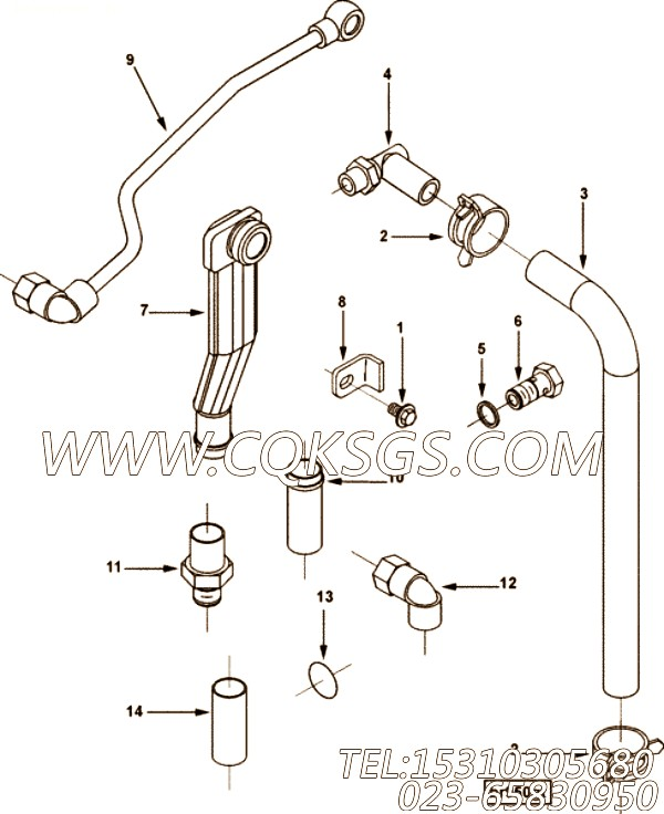 【4897547】直通接头体 用在康明斯引擎