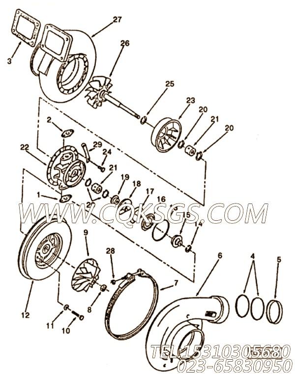 【涡轮增压器】康明斯CUMMINS柴油机的3529718 涡轮增压器