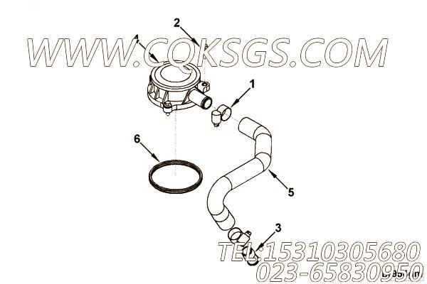 【引擎4BTA3.9-C110的中冷器管路组】 康明斯直通接头体,参数及图片