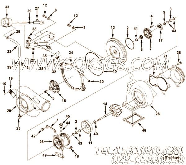 【软管】康明斯CUMMINS柴油机的3528118 软管