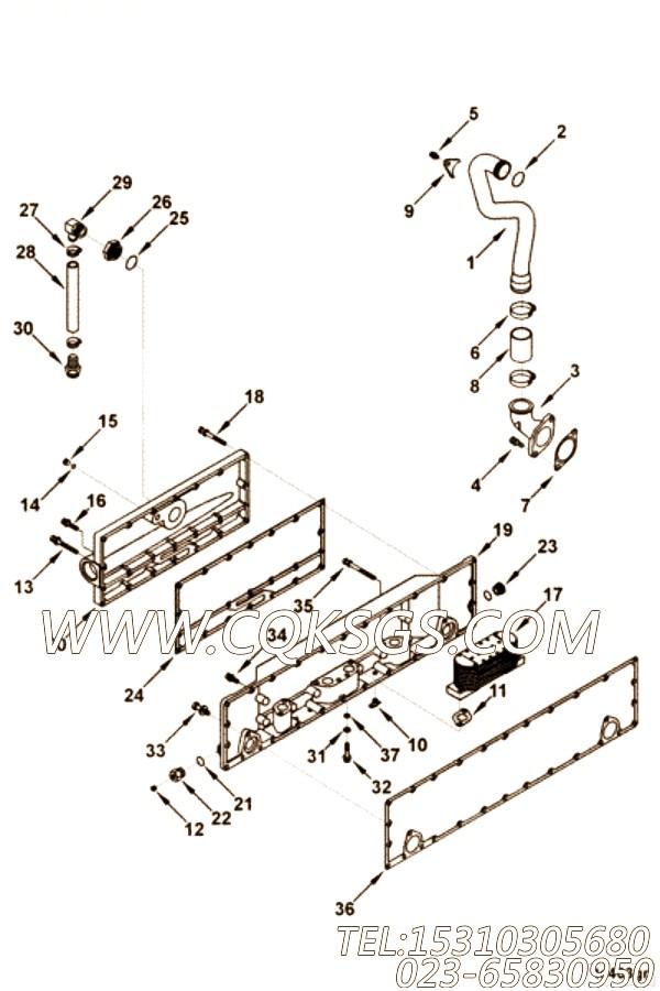 3201287夹子,用于康明斯KTA19-P430柴油机机油冷却器组,【消防泵】配件