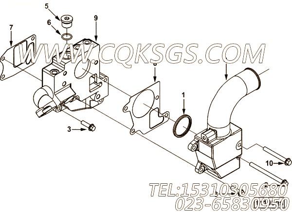 【恒温壳垫片】康明斯CUMMINS柴油机的3680601 恒温壳垫片
