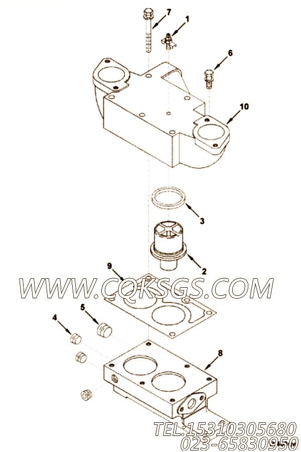3010916节温器壳体支架,用于康明斯KTTA19-G2柴油机节温器.壳.支架总成组,【柴油发电】配件