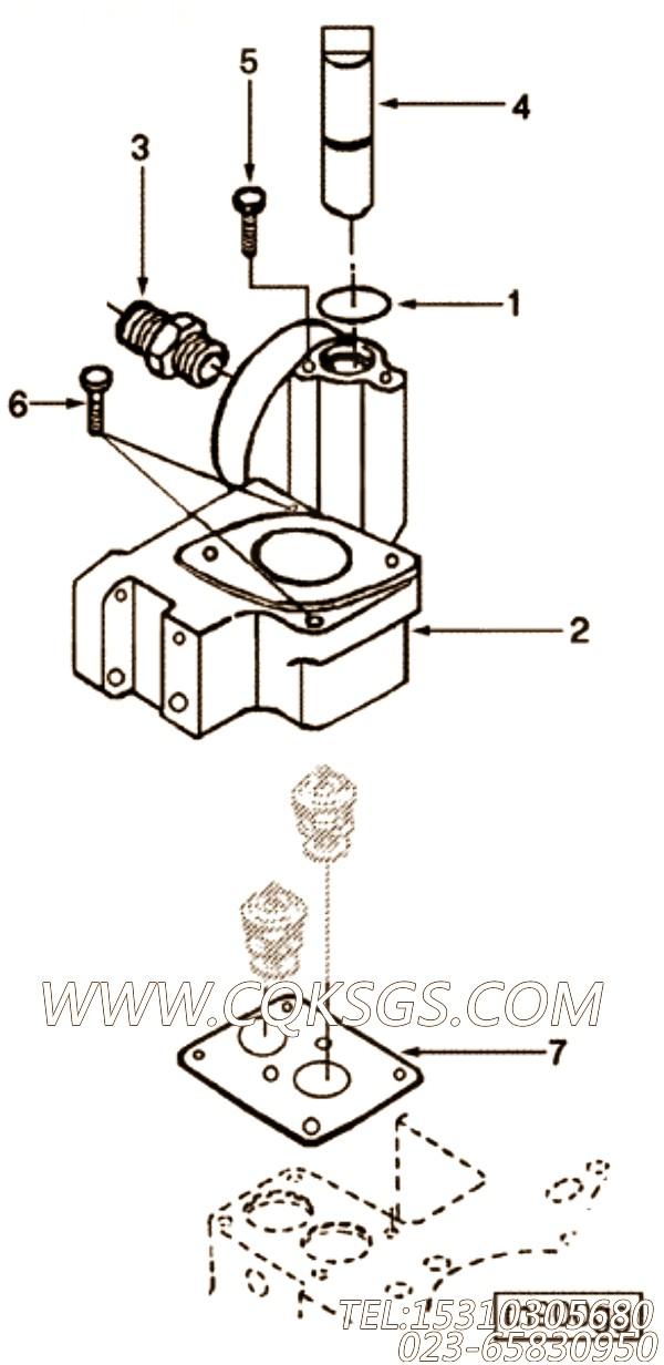 【引擎6CTA8.3-C215的节温器座组】 康明斯节温器座总成,参数及图片