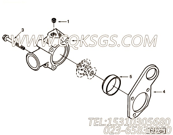 【引擎EQB210-10的发动机吊耳组】 康明斯发动机前吊耳,参数及图片