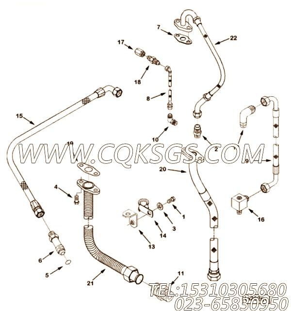 【柔性软管】康明斯CUMMINS柴油机的3606595 柔性软管