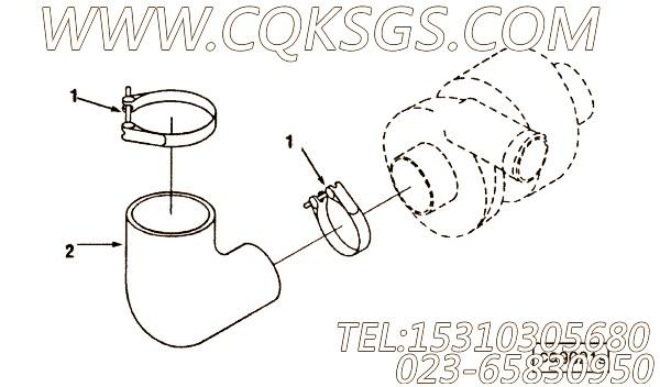 3030770软管,用于康明斯ISM305V发动机软管组,【抽沙船用】配件