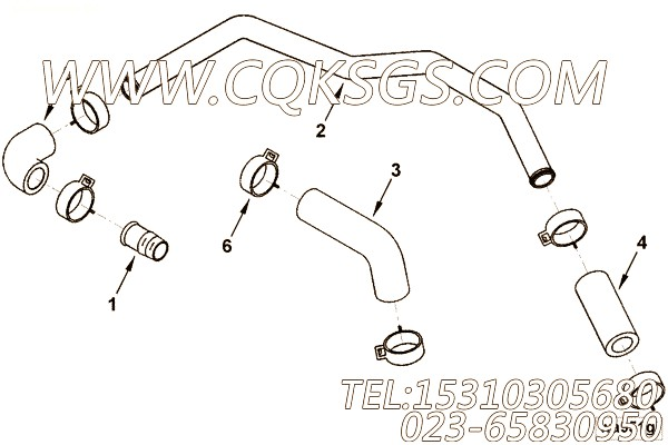 【引擎4BTA3.9-C110的中冷器管路组】 康明斯中冷器水管,参数及图片