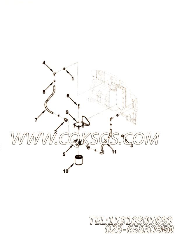 【C3966481】防锈器支架 用在康明斯柴油机