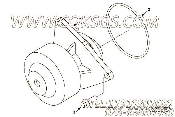 【引擎6CTA8.3-C212的水泵组】 康明斯O形密封圈,参数及图片