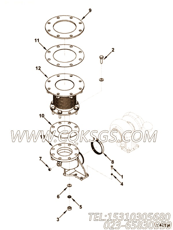 Gasket, Exh Out Connection