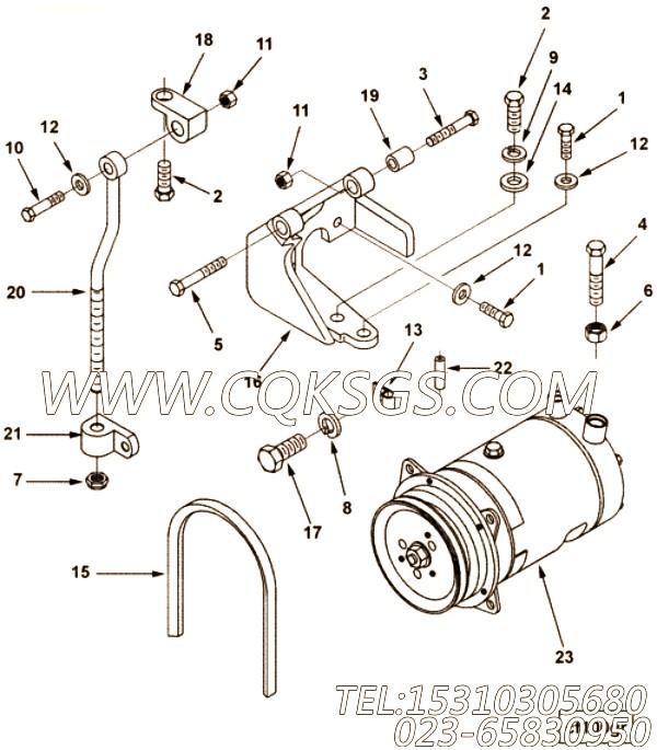 106549六角螺栓,用于康明斯NTA855-C360柴油机飞轮壳组,【太原亮箭接触网作业车】配件
