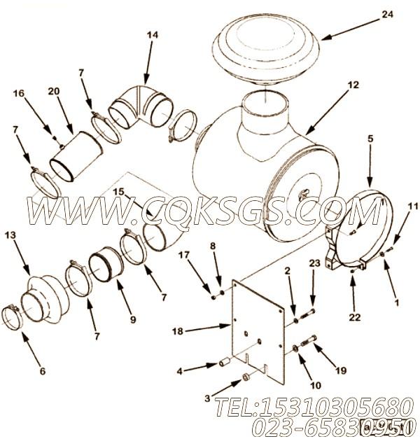 3335044六角螺栓,用于康明斯M11-350柴油机加油口位置及手孔盖组,【抽沙船用】配件