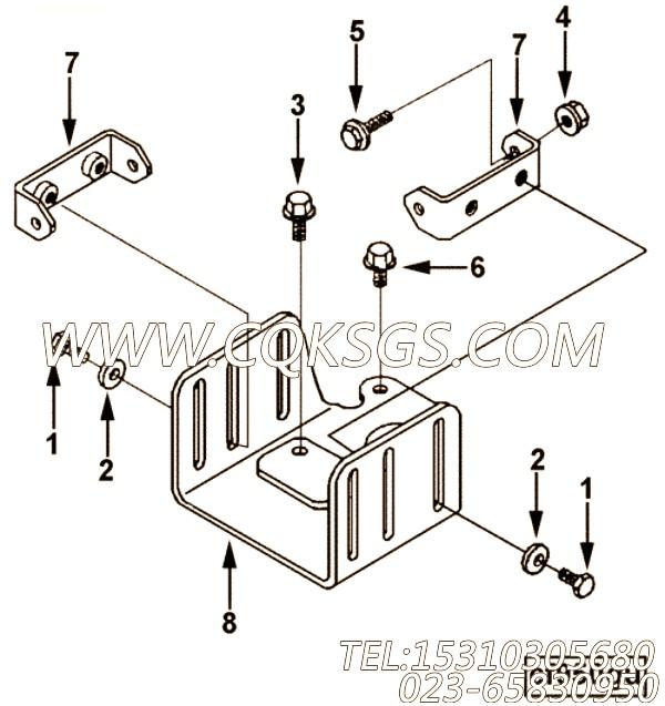 3036230六角螺栓,用于康明斯M11-C350主机加油口位置及手孔盖组,【高原】配件