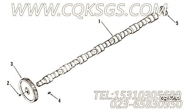 【凸轮轴】康明斯CUMMINS柴油机的3265904 凸轮轴