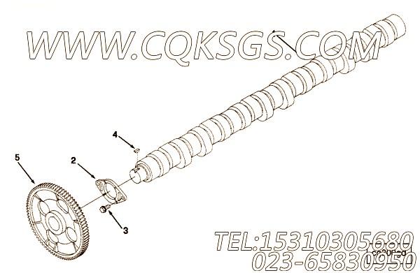 【凸轮轴】康明斯CUMMINS柴油机的3097267 凸轮轴