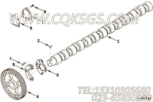 【凸轮轴止推轴承】康明斯CUMMINS柴油机的3096458 凸轮轴止推轴承