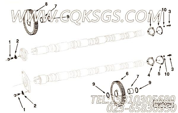 207373凸轮轴端盖,用于康明斯KTA38-C1200主机基础件组,【高原】配件